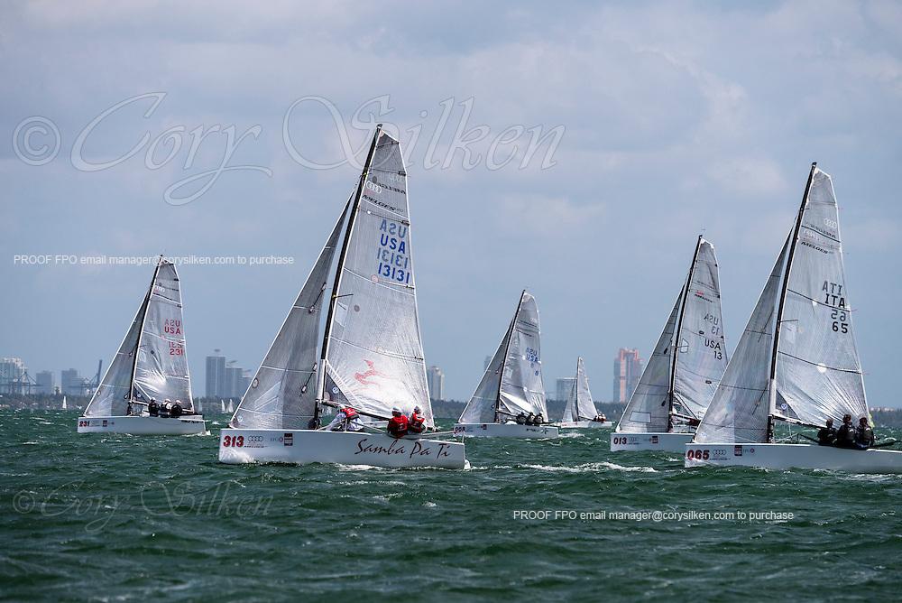 Samba Pa Ti and Stig sailing in Bacardi Miami Sailing Week, day five.