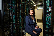 Extreme Networks CEO Katy Motiey poses for a portrait at Extreme Networks in San Jose, California, on February 19, 2019. (Stan Olszewski for Silicon Valley Business Journal)