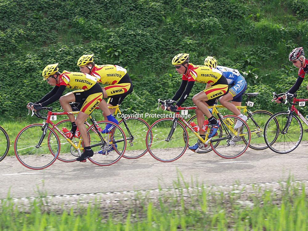 Ronde van Overijssel 2003 <br />(6) Piet Rooijakkers, (1) Marco Bos