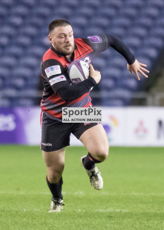 Edinburgh #1 Rory Sutherland on the charge.  Edinburgh Rugby v Agen, European Challenge Cup, 15th January 2016