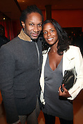 l to r: Chris Chambers and Marsha Burnett at The Ryan Leslie listening party for his new album ' Transition ' presented by The NextSelection Lifestyle Group and UniversalMotown and held at The Times Center on November 4, 2009 in New York City. Terrence Jennings/Retna, Ltd