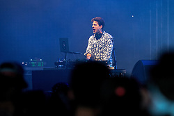 © Licensed to London News Pictures . 06/06/2015. Manchester , UK . The DJ , MARK RONSON , performs at The Parklife 2015 music festival in Heaton Park , Manchester . Photo credit : Joel Goodman/LNP