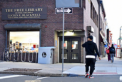 Community discussion on trauma, PTSD and access to mental health services at the Blackwell Regional Library in West Philadelphia, on Wednesday. (Bastiaan Slabbers for WHYY)