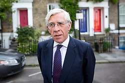 © Licensed to London News Pictures. 06/07/2016. London, UK. Politician JACK STRAW leaves home on the day the report of the Iraq Inquiry is published. Straw served as foreign secretary in Tony Blair's cabinet from 2001-2006, during the Iraq war. Photo credit : Tom Nicholson/LNP