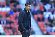Jack Ross during the EFL Sky Bet League 1 match between Sunderland and Rochdale at the Stadium Of Light, Sunderland, England on 22 September 2018.