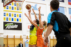 Aleksandra Kroselj of ZKK Cinkarna Celje in action during basketball match between ZKK Cinkarna Celje (SLO) and MBK Ruzomberok (SVK) in Round #6 of Women EuroCup 2018/19, on December 13, 2018 in Gimnazija Celje Center, Celje, Slovenia. Photo by Urban Urbanc / Sportida