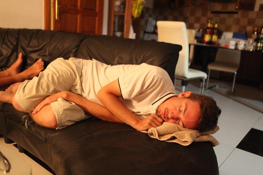 LSA member asleep at LSA house
