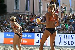 Tjasa Kotnik and Tjasa Jancar of Slovenia at Ljubljana Beach Volley 2017, on July 22, 2017 in Ljubljana, Slovenia. Photo by Matic Klansek Velej / Sportida