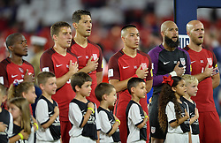 October 6, 2017 - Orlando, Florida, United States - Orlando, FL - Friday Oct. 06, 2017: Darlington Nagbe, Matt Besler, Omar Gonzalez, Bobby Wood, Tim Howard, Michael Bradley during a 2018 FIFA World Cup Qualifier between the men's national teams of the United States (USA) and Panama (PAN) at Orlando City Stadium. (Credit Image: © John Todd/ISIPhotos via ZUMA Wire)