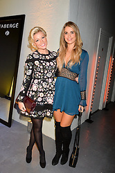 LONDON, ENGLAND 6 DECEMBER 2016: <br /> Natalie Rushdie, Vogue Williams at the Fabergé Visionnaire DTZ Launch held on the 39th Floor Penthouse, South Bank Tower, Upper Ground, London, England. 6 December 2016.