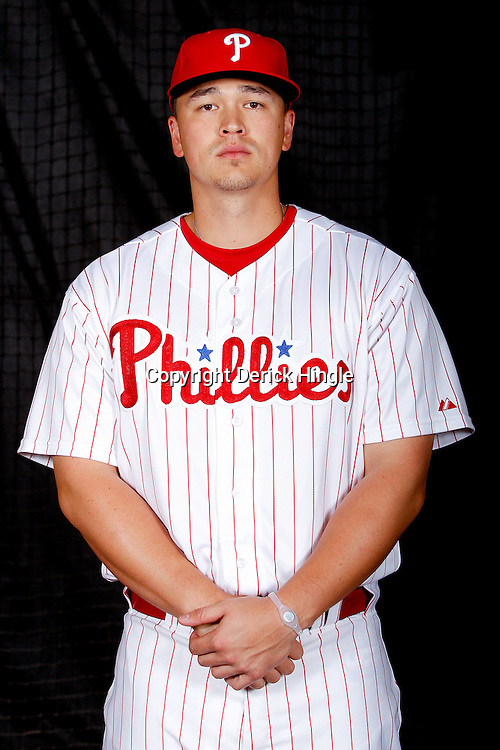 February 22, 2011; Clearwater, FL, USA; Philadelphia Phillies relief pitcher Vance Worley (49) poses during photo day at Bright House Networks Field. Mandatory Credit: Derick E. Hingle