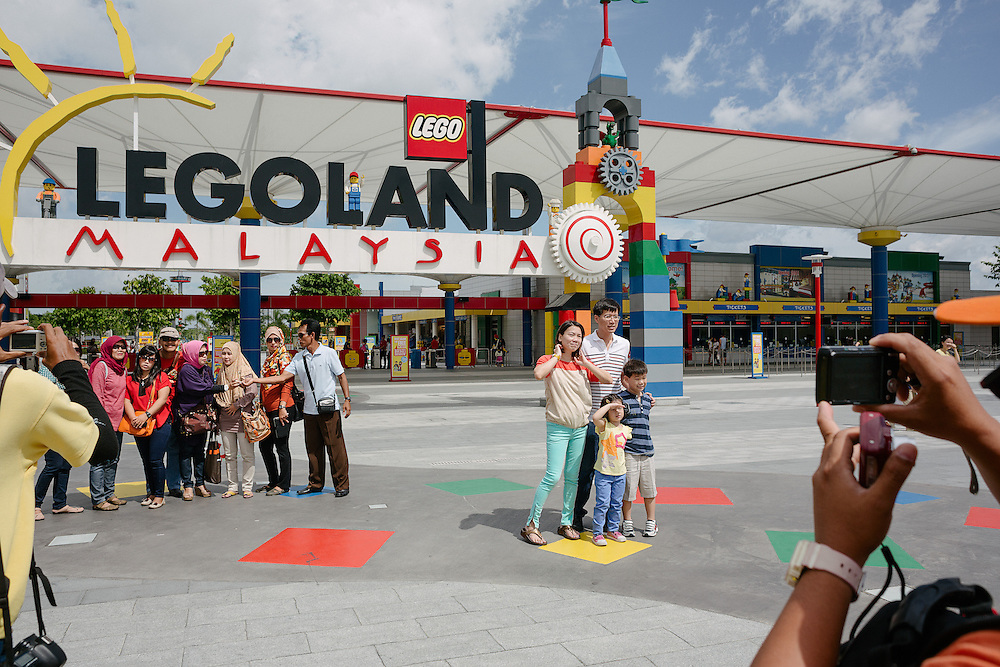 Visitors at Legoland Malaysia. Legoland Malaysia is a theme park that has opened in Nusajaya, Johor, Malaysia on September 15, 2012 with over 40 interactive rides, shows and attractions. It is the first Legoland theme park in Asia upon its establishment. The official opening of Legoland Malaysia was made by Sultan Ibrahim Ismail, Sultan of Johor on September 22, 2012. It is the centrepiece of a 5,500,000 sq ft (510,000 m2) integrated complex in the Nusa Cemerlang industrial park, within the Iskandar Malaysia economic region, consisting of a lifestyle retail centre, offices, hotels, service apartments and residential units.