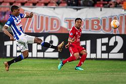 12-05-2018 NED: FC Utrecht - Heerenveen, Utrecht<br /> FC Utrecht win second match play off with 2-1 against Heerenveen and goes to the final play off / (L-R) Denzel Dumfries #2 of SC Heerenveen, Urby Emanuelson #18 of FC Utrecht