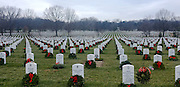 © Licensed to London News Pictures. 01/01/2013. Washington DC, USA . Graves of US Soldiers killed in recent conflicts across the globe Arlington National Cemetery.  Photo credit : Stephen Simpson/LNP