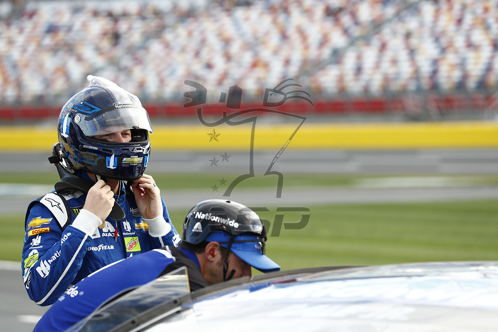 May 25, 2017 - Concord, NC, USA: Dale Earnhardt Jr. (88) hangs out on pit road prior to qualifying for the Coca Cola 600 at Charlotte Motor Speedway in Concord, NC.