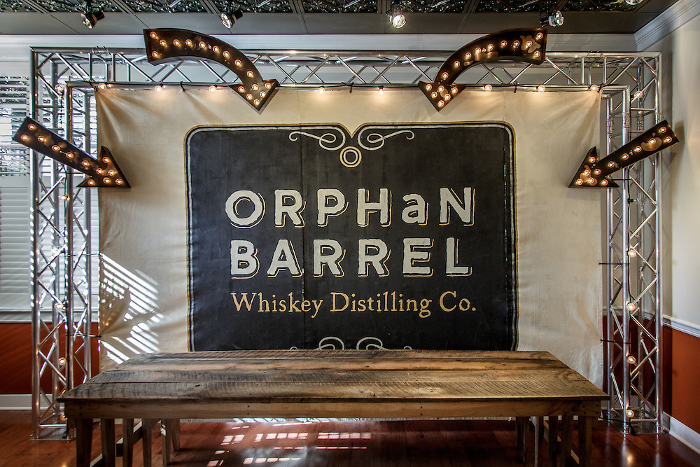 A sign for the Orphan Barrel Whiskey Distilling Co. inside the visitors center at The Bulleit Frontier Whiskey Experience at Stitzel-Weller Distillery in the Shively area of Louisville, Kentucky, January 30, 2015. Gary He/DRAMBOX MEDIA LIBRARY
