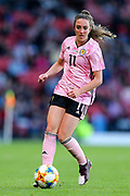 Lisa Evans (#11) of Scotland on the ball during the International Friendly match between Scotland Women and Jamaica Women at Hampden Park, Glasgow, United Kingdom on 28 May 2019.