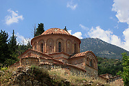 The exterior of Afendiko church , Mistra (Archaeological Site of Mystras, UNESCO World Heritage List, 1989),<br />