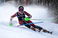 08 MAR 2013: Kristine Gjelsten Haugen of the University of Denver during the Women's Slalom competition at the 2013 NCAA Men and Women's Division I Skiing Championship held at the Middlebury Snowbowl in Middlebury, VT. Haugen placed first in the event to win the national title. Brett Wilhelm