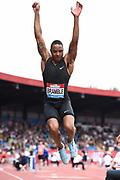 Dan Bramble (GBR) places seventh in the long jump at 25-7½ (7.81m) during the Grand Prix Birmingham in an IAAF Diamond League meet in Birmingham, United Kingdom, Saturday, Aug. 18, 2018. (Jiro Mochizuki/mage of Sport)