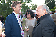 BEN BRADSHAW; NANCY DELL D'OLIO; SIR PHILIP GREEN, 2009 Serpentine Gallery Summer party. Sponsored by Canvas TV. Serpentine Gallery Pavilion designed by Kazuyo Sejima and Ryue Nishizawa of SANAA. Kensington Gdns. London. 9 July 2009.