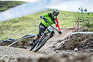 Greg Williamson during Sunday practise at the UCI Mountain Bike World Cup in Fort William.