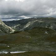 A high plateau in the Bridger Teton National Wilderness, Wind River Range, Wyoming