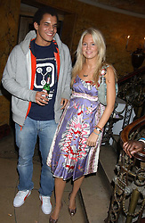 MARISSA MONTGOMERY and BEN HYPOLITE at a party following the TopShop Unique fashion show held at Home House, Portman Square, London on 19th September 2005.<br /><br />NON EXCLUSIVE - WORLD RIGHTS