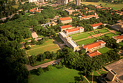 Stock photo of an aerial view of Rice University in Houston Texas