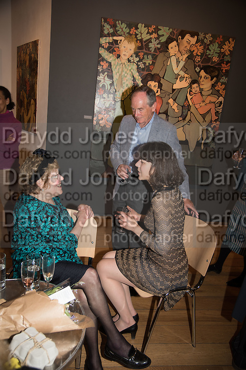 CHARLOTTE JOHNSON WAHL; BLANCHE GIROUARD; SIR SIMON JENKINS; , Exhibition opening of paintings by Charlotte Johnson Wahl. Mall Galleries. London, 7 September 2015.