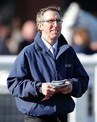 Trainer Carroll Gray looks on - Photo mandatory by-line: Harry Trump/JMP - Mobile: 07966 386802 - 17/02/15 - SPORT - Equestrian - Horse Racing - Taunton Racecourse, Somerset, England.
