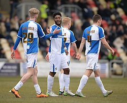 Ellis Harrison of Bristol Rovers celebrate his goal with Oliver McBurnie of Bristol Rovers - Mandatory byline: Alex James/JMP - 19/03/2016 - FOOTBALL - Rodney Parade - Newport, England - Newport County v Bristol Rovers - Sky Bet League Two