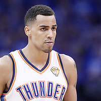 12 June 2012: Oklahoma City Thunder shooting guard Thabo Sefolosha (2) is seen during the Oklahoma City Thunder 105-94 victory over the Miami Heat, in Game 1 of the 2012 NBA Finals, at the Chesapeake Energy Arena, Oklahoma City, Oklahoma, USA.