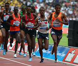 July 21, 2018 - London, United Kingdom - L-R Muktar Edris and Hagos Gebrhiwet of Ethiopia compete in the 5000m Men.during the Muller Anniversary Games IAAF Diamond League Day One at The London Stadium on July 21, 2018 in London, England. (Credit Image: © Action Foto Sport/NurPhoto via ZUMA Press)