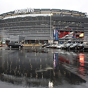 MetLife Stadium in the rain before the Argentina Vs Ecuador International friendly football match at MetLife Stadium, New Jersey. USA. 31st march 2015. Photo Tim Clayton
