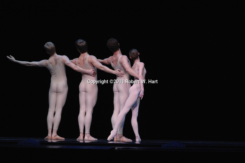 "Texas Ballet Theater dancers perform Ben Stevenson's ""Four Last Songs"" during a February 17, 2011 dress rehearsal at Fort Worth's Bass Hall."