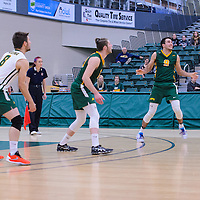 Cougars in action during the Men's Volleyball Home Game vs Trinity Western  on October 28 at the CKHS University of Regina. Credit Matt Johnson/Arthur Images