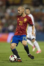 October 6, 2017 - Alicante, Spain - Silva (Manchester CIty) during the qualifying match for the World Cup Russia 2018 between Spain and Albaniaat the Jose Rico Perez stadium in Alicante, Spain on October 6, 2017. (Credit Image: © Jose Breton/NurPhoto via ZUMA Press)