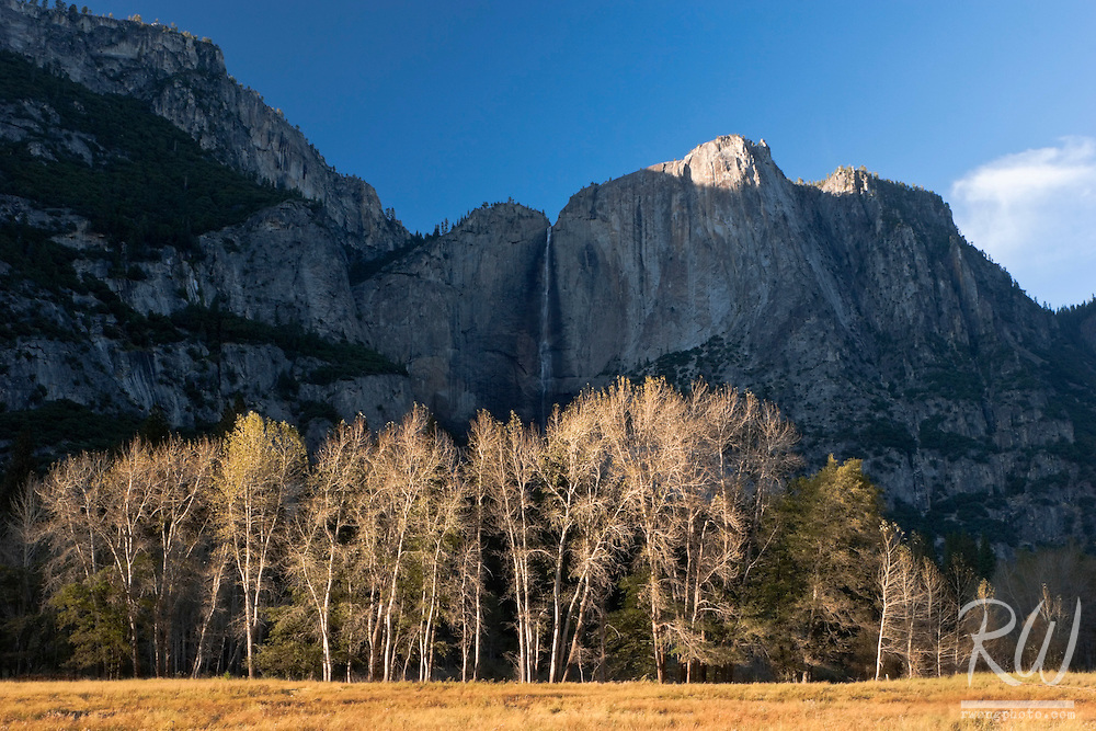 Yosemite Falls in Shadow at Cook's Meadow, Yosemite National Park, California