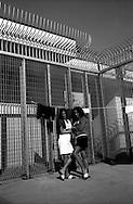 Il Centro di permanenza temporanea (CPT), ora denominato Centri di identificazione ed espulsione (CIE), per immigrati di Ponte Galeria a Roma. Il reparto per i transessuali