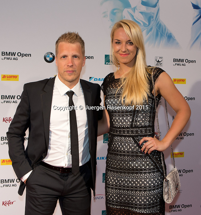 BMW Open Players Party,<br /> Sabine Lisicki und Oliver Pocher<br /> <br /> Tennis - BMW Open - ATP -   - Muenchen - Bayern - Germany  - 27 April 2015. <br /> &copy; Juergen Hasenkopf