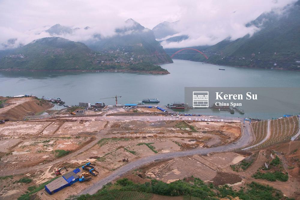 Wushan torn down city, Wu Gorge, Three Gorges, Yangtze River, China