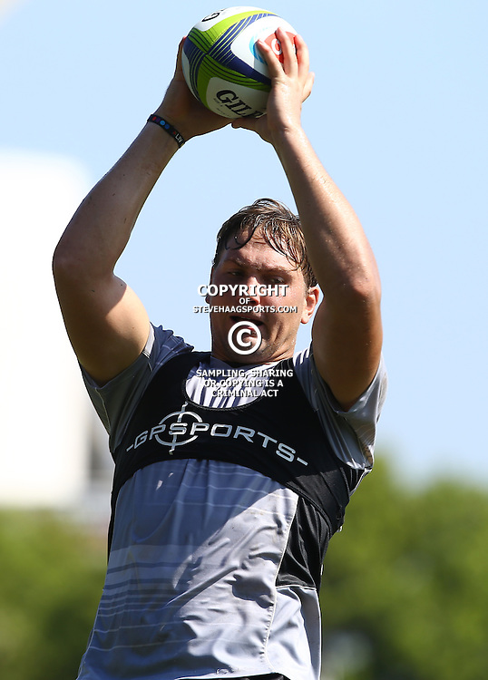 DURBAN, SOUTH AFRICA, 4 April, 2016 - Etienne Oosthuizen during The Cell C Sharks training session  at Growthpoint Kings Park in Durban, South Africa. (Photo by Steve Haag)<br /> images for social media must have consent from Steve Haag