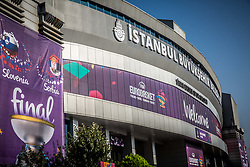 Arena prior to the Final basketball match between National Teams  Slovenia and Serbia at Day 18 of the FIBA EuroBasket 2017 at Sinan Erdem Dome in Istanbul, Turkey on September 17, 2017. Photo by Vid Ponikvar / Sportida