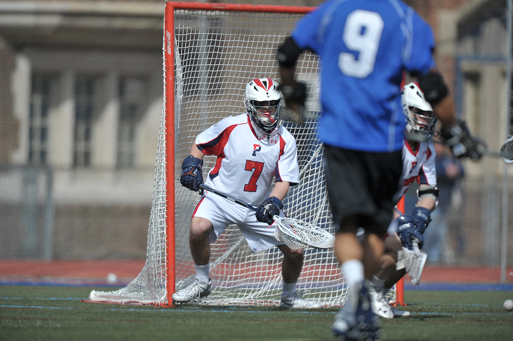 PHILADELPHIA - SEPTEMBER 26:  Penn men's Lacrosse defeated Duke 7-3 on February 26, 2011 at Franklin Field in Philadelphia, Pennsylvania. (Photo by Drew Hallowell)