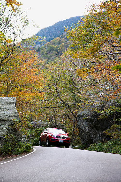 Driving VT SH 108 is challenging at the narrow top of Smugglers' Notch.  At the sides of the road lies the Smugglers' Cave area, a huge boulder field with trees adding grace notes.<br /> From Wikipedia: ...&quot;a narrow notch (mountain pass) running adjacent to Sterling Mountain, which smugglers used many years ago. Smugglers' Notch is nicknamed Smuggs. It consists of three mountains: Morse Mountain, Madonna and Sterling Mountains.