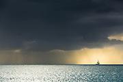 The beautifully moody waters of Antigua.