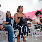 SEPTEMBER 28, 2017---MIAMI, FLORIDA---<br /> Audience listening architect Alejandro Haiek, from Lab Pro Fab in Venezuela, during his presentation as part of the Miami Dade College series, By the People.<br /> (Photo by Angel Valentin/Freelance).