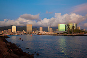 Kewalo Basin at twilight, Ala Moana, Honolulu, Oahu, Hawaii