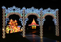The Magical Lantern Festival Uk Premiere celebrating the Lunar New Year 2016 held at Chiswick House and Gardens, London from Wednesday 3 Feb 2016 - Sunday 6 March 2016